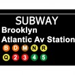 Brooklyn Atlantic Avenue Station subway sign — Stockfoto
