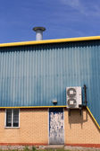 Air conditioning unit on warehouse — Stock Photo