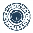 Stock Photo: Its a boy stamp