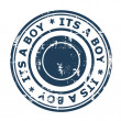 Its a boy stamp — Stock Photo #29680503