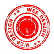 Web Design concept stamp — Stock Photo