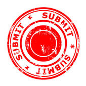Submit concept stamp — Stock Photo