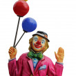 Circus clown with balloons — Stock Photo
