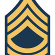 American Master Sergeant insignia rank badge — Photo
