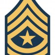 American sergeant major insignia rank — Stock Photo