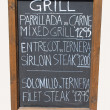 Mixed grill cafe sign — Stok fotoğraf