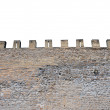 Stock Photo: Isolated castle battlements