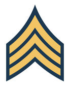 American army sergeant insignia rank — Stock Photo