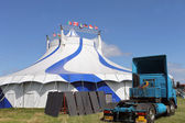 Circus tent and blue sky — Stock fotografie