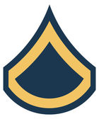 American Private First Class insignia rank badge — Stock Photo