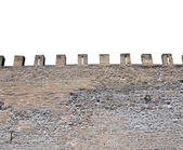Isolated castle battlements — Stock Photo