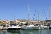 Alcudia harbor and marina — Stock Photo