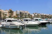 Alcudia harbor in Spain — Foto Stock