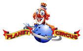 Planet-zirkus-zeichen — Stockfoto