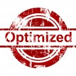 Foto de Stock  : SEO optimized red stamp