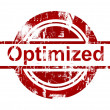 Stock Photo: SEO optimized red stamp