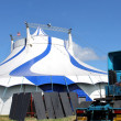 American Circus tent and truck — Stock Photo