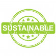 Green sustainable stamp with stars — Stockfoto