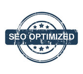 Blue SEO Optimized stamp with stars — Stock Photo