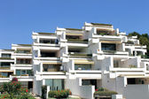 Holiday apartment buildings — Stock Photo