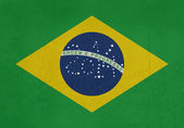 Grunge 2014 Brazil flag — Stock Photo