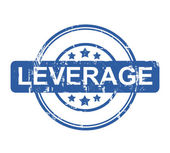 Leverage business stamp with stars isolated on a white background. — Stock Photo