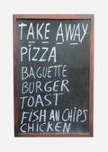 Takeaway food sign — ストック写真