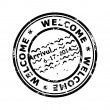 Stock Photo: Passport welcome stamp