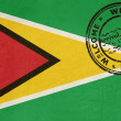 Welcome to Guyana flag with passport stamp — Stock Photo