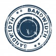 Bandwidth concept stamp — Stock Photo #37014959