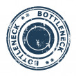 图库照片: Bottleneck concept stamp