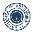 Stockfoto: Bottleneck concept stamp