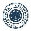 Deliverables concept stamp — Stock Photo