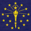 Indiana State flag on brick wall — Stock Photo