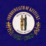 Kentucky state flag on brick wall — Stock Photo