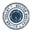 Silver bullet business stamp — Stock Photo