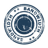 Bandwidth concept stamp — Stock Photo