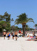 Beach scene on island of Majorca — Stockfoto
