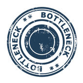 Bottleneck concept stamp — Stock Photo