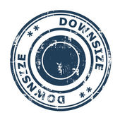 Downsize concept stamp — Stock Photo