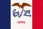 Iowa state flag on brick wall — Stock Photo