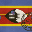 Welcome to Swaziland flag with passport stamp — Stock Photo