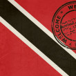 Welcome to Trinidad and Tobago flag with passport stamp — Stock Photo