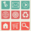 Stock Photo: Flat web design icons set