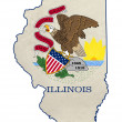 Grunge state of Illinois flag map — Stock Photo #39731661