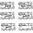 Set of passport stamps — Stock Photo