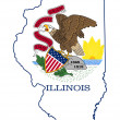 State of Illinois flag map — Stock Photo #39734517