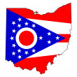 mapa de bandeira do estado de ohio — Foto Stock #39734565