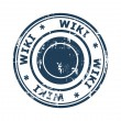 Wiki concept stamp — Stock Photo #39734753