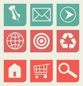 Flat web design icons set — Stock Photo